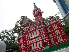 Samford Hall built out of Legos
