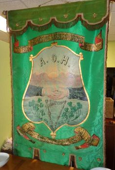 Found on EstateSales.NET: Ancient Order of Hibernians - Anoka, MN Irish American, American Girl, Banners, Ireland, Culture, History, Day, Design, Banner