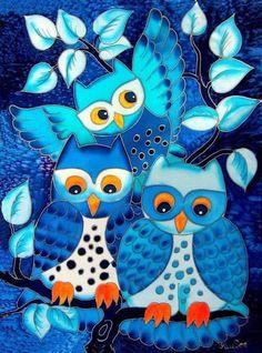 It's the bandit owl gang . Owl Bird, Bird Art, Owl Illustration, Illustrations, Wal Art, Owl Wallpaper, Whimsical Owl, Paper Owls, Owl Pictures