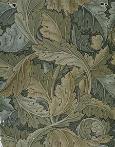 'Acanthus', wallpaper, William Morris, 1875. Museum no. E.495-1919