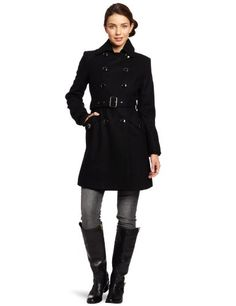 Kenneth Cole Women`s Double Breasted Melton Trench $122.64
