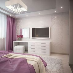 The modern bedroom is a room with its own character! Luxury Bedroom Design, Interior Design Living Room, Home Decor Bedroom, Modern Bedroom, Bedroom Ideas, Bedroom Tv, Vintage Bedroom Styles, Vintage Style, Retro Vintage