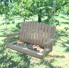 diy porch swing bird feeder