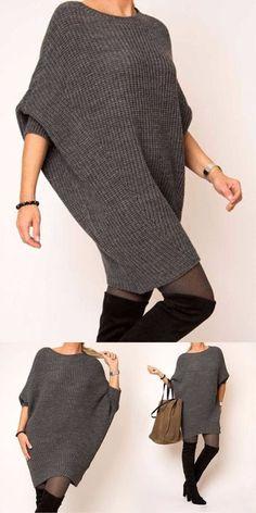 Knitted Stylish and Simple #knitting #crochet #womensfashion #crochetaddict #crochettutorial #knittingpatterns