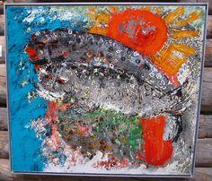 Reidar Särestöniemi: Seals in Love, 1972 Paul Klee, Finland, Reindeer, Abstract Art, Colours, Love, Seals, Artist, Painting