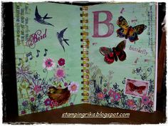 stamping rika: birds and butterflies