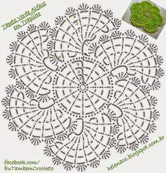 TAMBIÉN CROCHETO ...: Alfombra verde lechuga en Trapilho