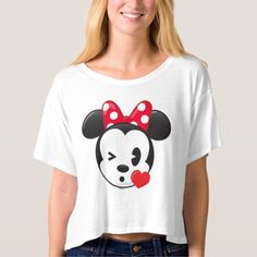 Trendy Minnie | Flirty Emoji T-shirt #valentines #day #tshirt