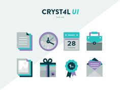 Icons for Cryst4l UI