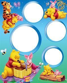 Plantillas gratis para fotos infantiles caritas - Imagui Disney Photo Frames, Disney Frames, Winnie The Pooh Pictures, Cute Winnie The Pooh, Beautiful Birthday Cards, Happy Birthday Photos, Birthday Tarpaulin Design, Happy Birthday Mickey Mouse, Cars Birthday Invitations