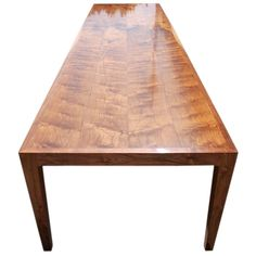 Parsons Table in Solid Walnut | See more antique and modern Dining Room Tables at http://www.1stdibs.com/furniture/tables/dining-room-tables