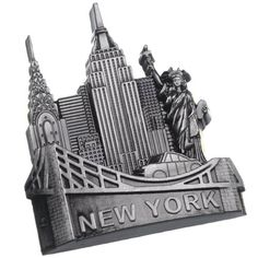 New York Landmarks Souvenir Metal Fridge Magnet Brooklyn Bridge NYC Cab Statue of Liberty NY Empire State Building Chrysler Building Metal Magnet UNIS http://www.amazon.com/dp/B00IIVCI80/ref=cm_sw_r_pi_dp_.3zwub1NXH17Q