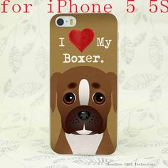 I Love My Boxer iPhone Case