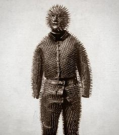 1800s Siberian bear hunting armour    Comments from Tumblr:    wtf do you do hug the bear    this is the most metal thing i have ever seen in my life
