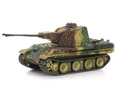 This Zwilling Flakpanzer 5.5cm (Western Front - 1945) Diecast Model Tank features working gun, tracks. It is made by Dragon and is 1:72 scale (approx. 12cm / 4.7in long).    The Luftwaffe was numerically outnumbered as WWII progressed, with the Fatherland and tactical units constantly being bombed and strafed by enemy aircraft. This called for more effective antiaircraft systems than Germany hitherto possessed. A new vehicle was planned – the 5.5cm Zwilling Flakpanzer V – though like the…