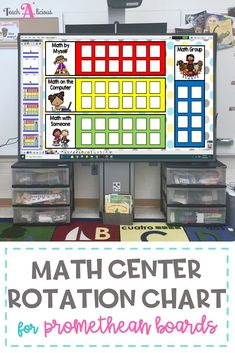 Manage your math centers with ease using this station rotation chart. It is easy to set up, and will help you with your small group organization. This flipchart provides space to create an anchor chart to set up expectations for each station. Ideal for Kindergarten, first grade and 2nd grade.