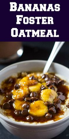 This easy recipe for Bananas Foster Oatmeal takes a classic dessert to another whole level of breakfast deliciousness. The caramelized bananas give a delicious flavor to the oatmeal and add the perfect sweetness to your breakfast!