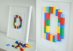 DIY Lego Initial Art For a Boy's Room 1 of 3