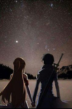 Kirito & Asuna | Sword Art Online | #SAO | #anime                                                                                                                                                                                 Mais