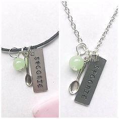 Spoonie Necklace Hand Stamped Necklace Chronic Illness