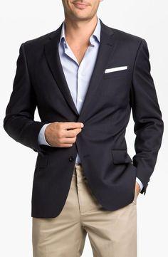 John Varvatos Star USA 'Loft' Trim Fit Wool Jacket
