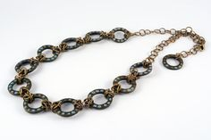 Unique Geometric Necklace Chainmaille Handcrafted by NiliSherill