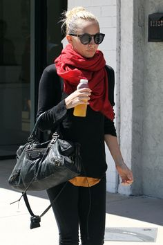 Nicole Richie Leaves the Tracey Anderson Gym