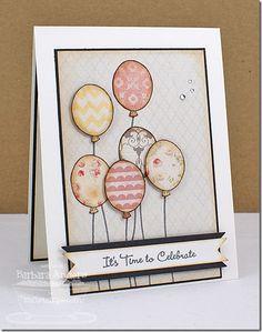 vintage balloons card - bjl