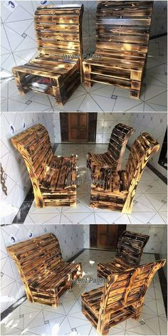 Incredible Handcrafted Pallet Wood Projects You Can DIY - Meuble bois - Pallet Projects Recycled Pallets, Wooden Pallets, Wooden Diy, Handmade Wooden, Pallet Wood, Handmade Ideas, Outdoor Pallet, Pallet Garden Furniture, Reclaimed Wood Furniture
