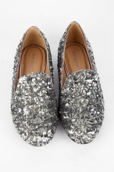 MINE! silver sequin flats $23