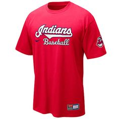 Gear up for a new season with this Indians practice t-shirt!