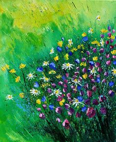 Wild Flowers Painting by Pol Ledent - Wild Flowers Fine Art Prints and Posters for Sale Flower Prints, Flower Art, Art Flowers, Saatchi Online, Flower Backgrounds, Swagg, Fine Art Photography, Beautiful Flowers, Beautiful Artwork