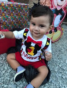 Custom embroidered Mickey Mouse birthday shirt with mommy and