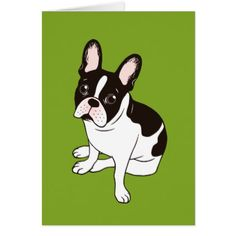 #Cute double hooded pied French Bulldog Card - #Petgifts #Pet #Gifts #giftideas #giftidea #petlovers