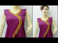 Learn how to make your kurti neck similar to branded and stylish kurti neck designs. Neck Patterns For Kurtis, Kurti Patterns, Blouse Patterns, Chudidhar Neck Designs, Blouse Neck Designs, Churidar Designs, Edwardian Dress, Cut Shirts, Indian Designer Wear