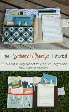 If you are looking for a practical and creative sewing project, here is a fantastic one that will also keep you organized!   The Glamorous Housewife