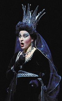"""soprano Mary Dunleavy as Queen of the Night in Mozart's """"The Magic Flute"""". Some Crown!"""