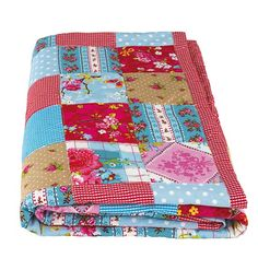 Patchwork quilt from Aspace | Vintage camping buys - 10 best | housetohome.co.uk