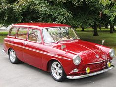 1962 cherry red VW Squareback
