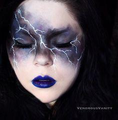 Thunder and lightning makeup