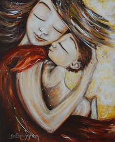 ...Mother and child paintings by K M Berggren on etsy