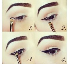 How to: cateye eyeliner technique with a eyelinerbrush