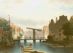 Eduard Alexander Hilverdink (Amsterdam 1846-1891) Zomers riviergezicht op Amsterdam - Kunsthandel Simonis en Buunk, Ede (Nederland).