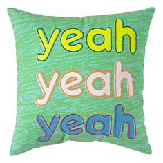 Yeah Throw Pillow  | The Land of Nod