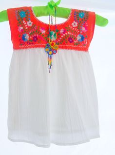 Amanda Mexican Handmade Embroidered Cotton Tunic Baby dress