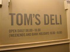 Tom's Deli. #typography