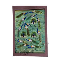 Miniature Painting on Paper of multiple peacocks, gift, home decor, Indian art, Indian handicraft by VirasatArtAndCraft on Etsy Fine Paper, Peacocks, Indian Art, Handicraft, Miniatures, Unique Jewelry, Frame, Handmade Gifts, Painting