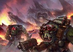 """inoxhammer: """" Ork Kommando's by MoonSkinned http://moonskinned.deviantart.com/art/Ork-Kommando-s-568443731 My Etsy Shop: https://www.etsy.com/shop/InoxHammer """""""
