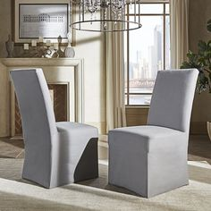 Potomac Slipcovered Parsons Dining Chairs (Set Of 2) By INSPIRE Q Artisan  By INSPIRE Q