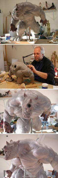 Easy Clay Sculptures : 豆三先的照片  微相册@codename47采集到塑料小人儿 HARDCORE(552图)_花瓣动漫